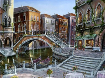 Romantic Venice Cityscape Oil Paintings