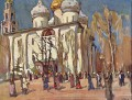 The Celebration Day Konstantin Yuon cityscape city scenes