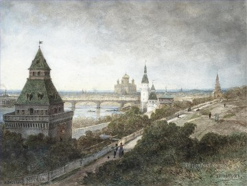 VIEW OF MOSCOW Alexey Bogolyubov cityscape city views Oil Paintings