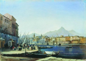 Artworks in 150 Subjects Painting - palermo 1850 Alexey Bogolyubov cityscape city scenes