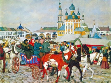 Artworks in 150 Subjects Painting - triple in uglich 1913 1 Konstantin Yuon cityscape city scenes