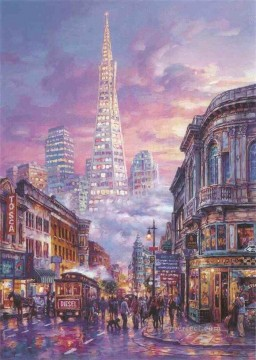 Other Urban Cityscapes Painting - urban night urban