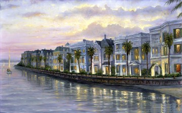 Other Urban Cityscapes Painting - Charleston South Carolina cityscapes
