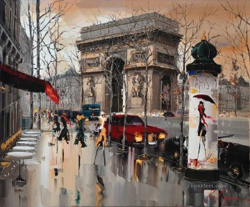 Other Urban Cityscapes Painting - KG Avenue de Friedland Paris