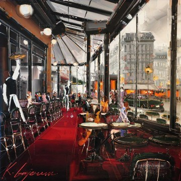 Other Urban Cityscapes Painting - KG Cafe de Flore Action
