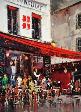 Other Urban Cityscapes Painting - KG Le Consulate Terrasse Montmartre Paris cityscapes