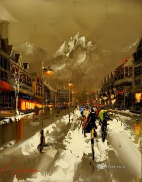 Other Urban Cityscapes Painting - KG cityscape 14