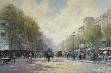 Morning on the Boulevard cityscape Oil Paintings