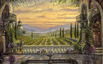 Poetic Tuscany Italy cityscapes Oil Paintings