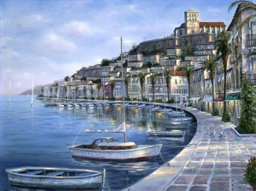 Other Urban Cityscapes Painting - Summer Breeze of Ibiza Spa cityscapes