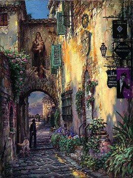 Artworks in 150 Subjects Painting - Toward Serenity cityscape modern city scenes