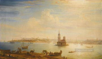 VIEW OF CONSTANTINOPLE Alexey Bogolyubov cityscape city Turkey Oil Paintings