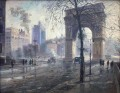 Washington Square Park cityscape modern city scenes