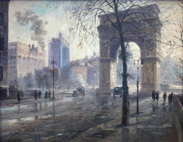 Washington Square Park cityscape modern city scenes Oil Paintings