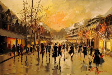 Other Urban Cityscapes Painting - Whistler Romance II KG cityscapes