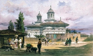 Other Urban Cityscapes Painting - acuarela Bucuresti Amadeo Preziosi Neoclassicism Romanticism city