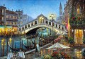 bridge street shops riverbank cityscape modern city scenes