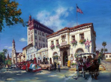 life in saint augustine FI cityscape modern city scenes Oil Paintings