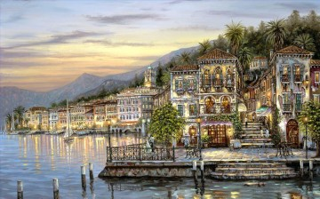 Bellagio Lake Como Robert F cityscapes Oil Paintings