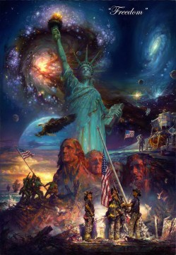 Freedom Statue of Liberty America United States Oil Paintings