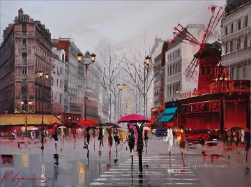 Other Urban Cityscapes Painting - KG Ambiance Of Moulin Rouge