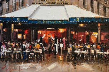 KG Les Deux Magots Paris Oil Paintings