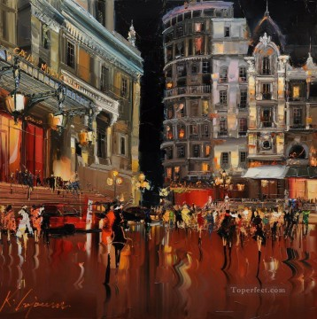 KG Spirit of Monte Carlo cityscapes Oil Paintings