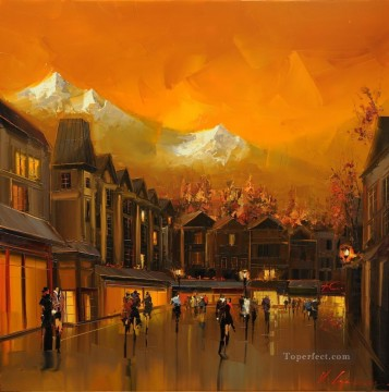 Other Urban Cityscapes Painting - KG cityscape 07