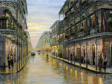 Other Urban Cityscapes Painting - New Orleans Louisiana cityscapes