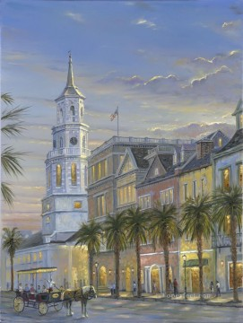 Other Urban Cityscapes Painting - St Michaels Church cityscapes