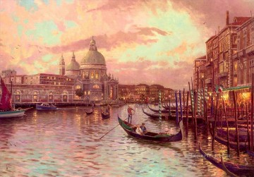 Other Urban Cityscapes Painting - Venice Thomas Kinkade cityscapes