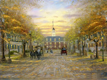Other Urban Cityscapes Painting - Williamsburgh in Virginia cityscapes