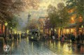 Evening on the Avenue Thomas Kinkade cityscapes