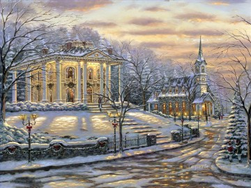 Joys Of Christmas Robert Fi cityscapes Oil Paintings