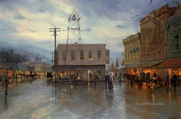 Placerville 1916 cityscape Oil Paintings