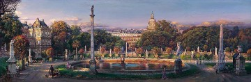 The Luxembourg Garden cityscape modern city scenes Oil Paintings