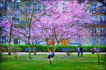 Other Urban Cityscapes Painting - Blooming tree in the Jardins du Luxembourg cityscapes