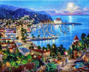 Artworks in 150 Subjects Painting - Catalina my love cityscape modern city scenes