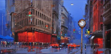 Flatiron District New York city KG Oil Paintings