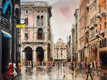 KG Milano Fashion capital Oil Paintings