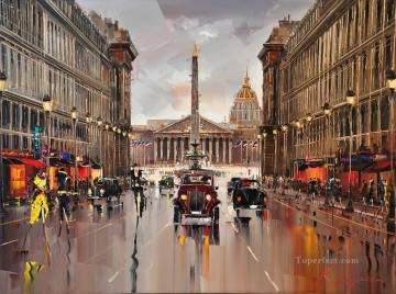 Other Urban Cityscapes Painting - KG Place de la Concorde View