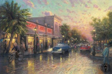 Other Urban Cityscapes Painting - Key West Thomas Kinkade cityscapes