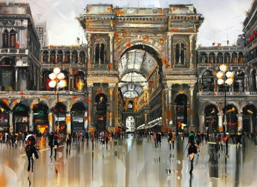 Other Urban Cityscapes Painting - Milano Duomo city KG