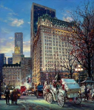 The Heartbeat Of New York cityscape modern city scenes Oil Paintings