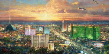 Viva Las Vegas cityscape Oil Paintings