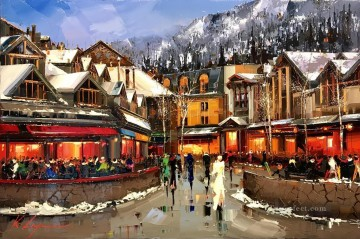 WHISTLER city KG Oil Paintings