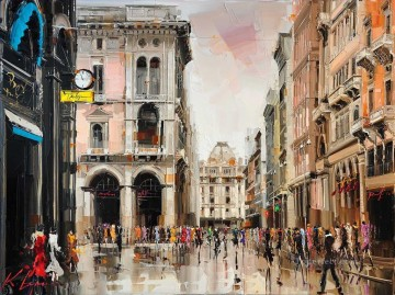 Other Urban Cityscapes Painting - milano city KG