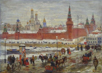 Artworks in 150 Subjects Painting - the old moscow Konstantin Yuon cityscape city scenes