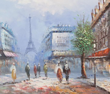 Paris Painting - Paris in Spring Caroline Burnett
