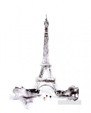 Paris Painting - Paris effel watercolor